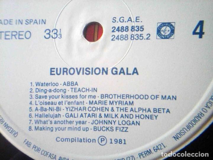 Discos de vinilo: 2 LP Eurovisionn Gala - 25 años de Eurovisión - Winners 1956 - 1981 - Foto 10 - 210933952