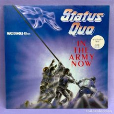 Discos de vinilo: LP STATUS QUO - IN THE ARMY NOW - VG++ - 1986 MADRID. Lote 210937030