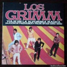 Discos de vinilo: LP LOS GRIMM - VIAJE EN LA ALFOMBRA MÁGICA - DISCO DE 10 PULGADAS.. Lote 210937374