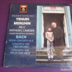 Dischi in vinile: YEHUDI MENUHIN - JIN LI - LONDON SYMPHONY ORCHESTRA LP BACH: VIOLIN CONCERTO IN E - CLASICA BARROCO. Lote 259222405