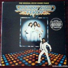 Discos de vinilo: LP B.S.O. SATURDAY NIGHT FEVER - PORTADA ABIERTA CON ENCARTES - RSO 1977. Lote 210939894