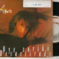 """Discos de vinilo: AMARO 7"""" SPAIN 45 OYE CARIÑO + DESACTIVADA SINGLE VINILO 1990 HARD ROCK FEMENINO MUY BUEN ESTADO. Lote 210940725"""