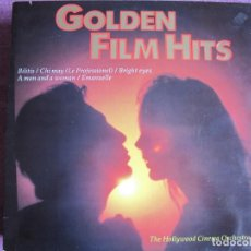 Discos de vinilo: LP - GOLDEN FILM HITS - THE HOLLYWOOD CINEMA ORCHESTRA (HOLLAND, MCR RECORDS 1982). Lote 210945505