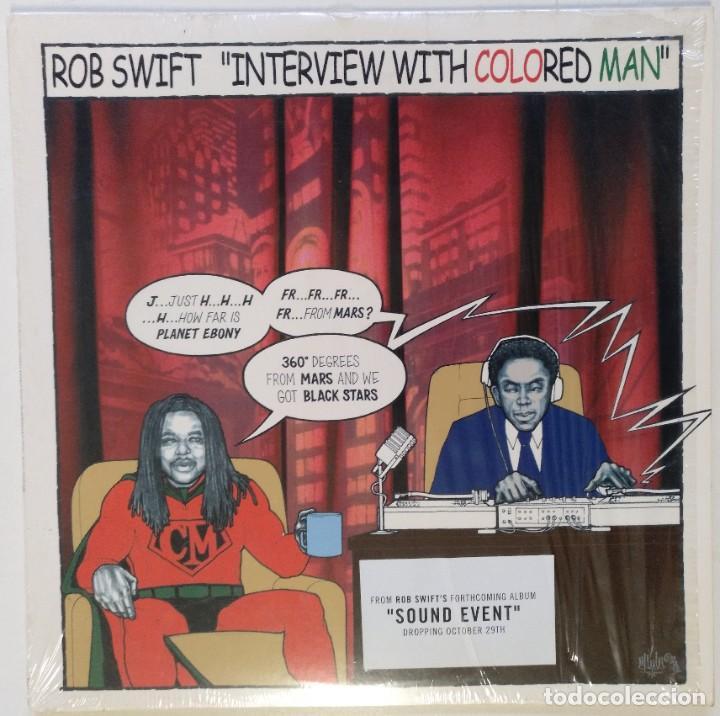 "DJ ROB SWIFT - INTERVIEW WHITH COLORED MAN [US HIP HOP / SCRATCH ] [ORIGINAL LP 12"" 33RPM] [2002] (Música - Discos de Vinilo - Maxi Singles - Rap / Hip Hop)"