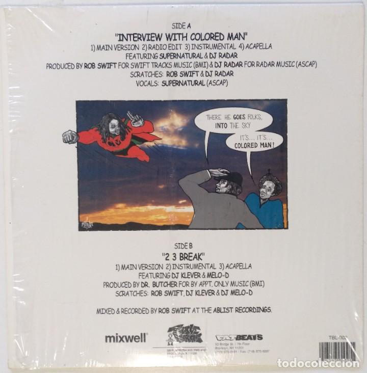 """Discos de vinilo: DJ ROB SWIFT - INTERVIEW WHITH COLORED MAN [US HIP HOP / SCRATCH ] [ORIGINAL LP 12"""" 33RPM] [2002] - Foto 2 - 210945936"""
