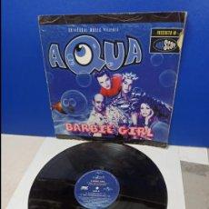 Discos de vinilo: MAXI SINGLE DISCO VINILO - AQUA - BARBIE GIRL. Lote 210946909