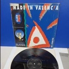 Discos de vinilo: MAXI SINGLE DISCO VINILO - MADE IN VALENCIA VOLUMEN UNO - HEAVEN. Lote 210950442