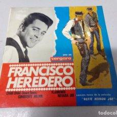 Discos de vinilo: FRANCISCO HEREDERO EP SPAIN 1965 - VERSION BEATLES + BANDA SONORA OESTE NEVADA JOE. Lote 210951684