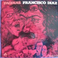 Discos de vinilo: LP - FRANCISCO DIAZ - PAGINAS (SPAIN, DIAL DISCOS 1977, VER FOTOS ADJUNTAS). Lote 210956237