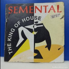 Discos de vinil: MAXI SINGLE DISCO VINILO - THE KING OF HOUSE - SEMENTAL. Lote 210956529