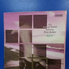 Discos de vinilo: MAXI SINGLE DISCO VINILO - THE ART OF NOISE FEATURING TOM JONES - KISS ( AON MIX ). Lote 210962312
