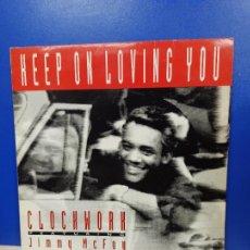 Discos de vinilo: MAXI SINGLE DISCO VINILO - CLOCKWORK FEATURING JIMMY MCFOY - KEEP ON LOVING YOU. Lote 210962679