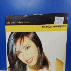 Discos de vinilo: MAXI SINGLE DISCO VINILO - JOCELYN ENRIQUEZ - DO YOU MISS ME. Lote 210962892