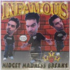 "Discos de vinilo: DJ INFAMOUS - MIDGET MADNESS BREAKS [HIP HOP / SCRATCH / TURNTABLISM] [DJ TOOL LP 12"" 33RPM] [2002]. Lote 210963639"