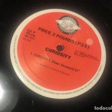Discos de vinilo: PRICE 2 POUNDS - CURIOSITY - MAXI ITALIA 90 D&W TECHNO. Lote 210965006