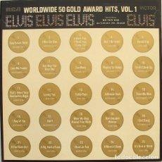 Discos de vinilo: ELVIS WORLDWIDE 50 GOLD AWARD HITS, VOL. 1 BOX 4 LP. Lote 210970854