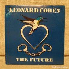Discos de vinilo: LEONARD COHEN - THE FUTURE - RARO SINGLE PROMO DEL AÑO 1993 SPAIN GRABADO SÓLO POR LA CARA A. EX++. Lote 210976134