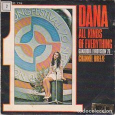"Discos de vinilo: IRLANDA 1970. ""ALL KINDS OF EVERYTHING"" - DANA. Lote 210978709"