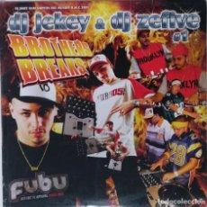"Discos de vinilo: DJ JEKEY & DJ ZEFIVE BROTHERS BREAKS 1 [HIP HOP / SCRATCH / TURNTABLISM][DJ TOOL LP 12"" 33RPM][2004]. Lote 210978800"