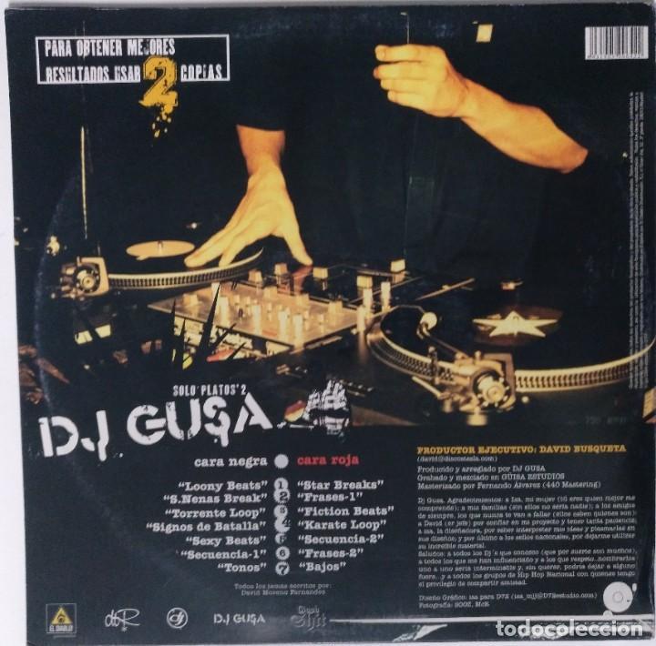 """Discos de vinilo: DJ GUSA - SOLO PLATOS 2 [HIP HOP / SCRATCH / TURNTABLISM] [ORIGINAL DJ TOOL LP 12"""" 33RPM] [2004] - Foto 2 - 210979000"""