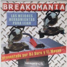 "Discos de vinilo: DJ DARE & EL MAESE - BREAKOMANIA [HIP HOP / SCRATCH / TURNTABLISM] [DJ TOOL LP 12"" 33RPM] [2003]. Lote 210979920"