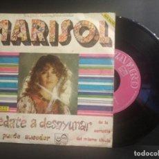 Discos de vinilo: MARISOL: QUEDATE A DESAYUNAR / TODO PUEDE SUCEDER (ZAFIRO 1973) SINGLE PEPETO. Lote 210980122