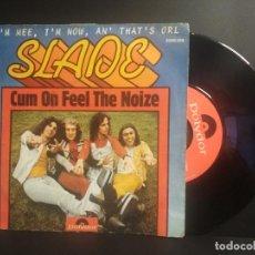 Discos de vinilo: SLADE SINGLE CUM ON FEEL THE NOIZE MADE IN SPAIN 1973. Lote 210980189