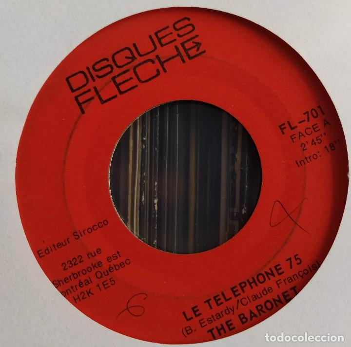 "Discos de vinilo: The Baronet - Le Telephone 75 / Crocodile Dance (7"", Single) (Disques Flèche) FL-701 (D: NM) - Foto 2 - 211264446"