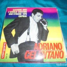Discos de vinilo: ADRIANO CELENTANO. BAMBINI MIEI + 3. EP . VERGARA, 1964. SPAIN. IMPECABLE (#). Lote 211267511