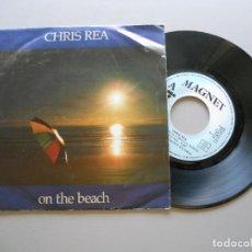 Discos de vinilo: CHRIS REA – ON THE BEACH - SINGLE 1986 VG++/VG+. Lote 211269156