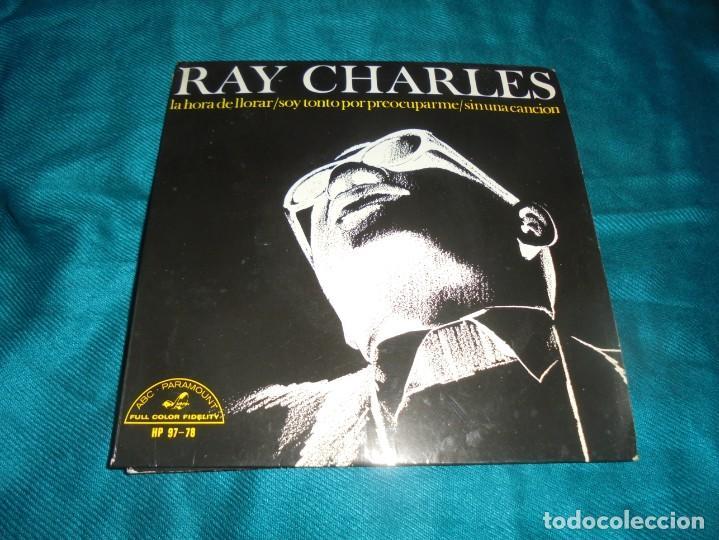 RAY CHARLES. LA HORA DE LLORAR + 3. EP. ABC PARAMOUNT, 1966. SPAIN. IMPECABLE (Música - Discos de Vinilo - EPs - Funk, Soul y Black Music)