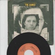 Dischi in vinile: LOTE V-DISCO VINILO MUSICA UMBERTO TOZZI SINGLE. Lote 211270697