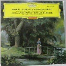 Dischi in vinile: DEUTSCHE GRAMMOPHON -ROBERT SCHUMANN- EDVARD GRIEG-CONCIERTO PARA PIANO Y ORQUESTA-LP. Lote 211271345
