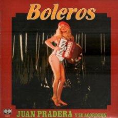 Discos de vinilo: JUAN PRADERA Y SU ACORDEON - BOLEROS LP DE 1981 RF-8064 , BUEN ESTADO. Lote 211272729