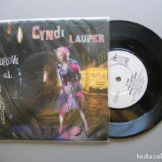 Discos de vinilo: CYNDI LAUPER – I DROVE ALL NIGHT - SINGLE 1989 VG++/VG++. Lote 211273569