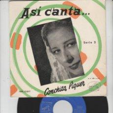 Discos de vinilo: LOTE V-DISCO VINILO MUSICA CONCHITA PIQUER SINGLE. Lote 211274525