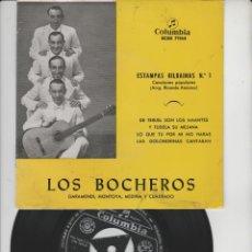 Discos de vinilo: LOTE V-DISCO VINILO MUSICA LOS BOCHEROS SINGLE. Lote 211276487