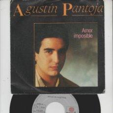 Discos de vinilo: LOTE V-DISCO VINILO AGUSTIN PANTOJA SINGLE. Lote 211277215