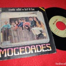 Discos de vinilo: MOCEDADES LET IT BE/MAS ALLA 7'' SINGLE 1970 NOVOLA BEATLES. Lote 211278497