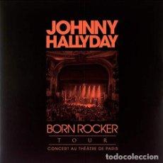 Discos de vinilo: HALLYDAY JOHNNY - BORN ROCKER TOUR (VINILO NUEVO). Lote 211315762