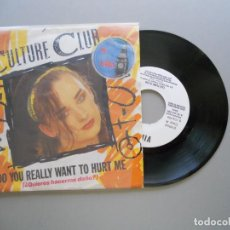 Discos de vinilo: CULTURE CLUB – DO YOU REALLY WANT TO HURT ME SINGLE PROMO VIRGIN 1982 VG++/VG++. Lote 211390581