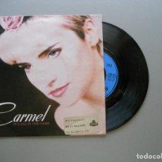 Discos de vinilo: CARMEL – IT'S ALL IN THE GAME - SINGLE 1987 NM/VG++. Lote 211391395