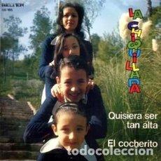 Discos de vinilo: LA CHIQUILLADA- QUISIERA SER TAN ALTA / EL COCHERITO - SINGLE BELTER 1972. Lote 211393152
