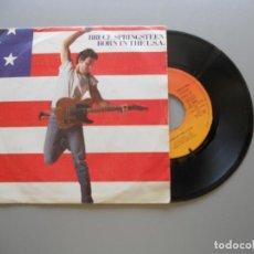 Discos de vinilo: BRUCE SPRINGSTEEN – BORN IN THE U.S.A. - SINGLE 1985 VG++/VG+. Lote 211394056