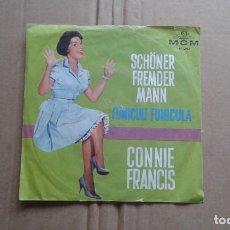 Discos de vinilo: CONNIE FRANCIS - SCHONER FREMDER MANN SINGLE 1961 EDICION ALEMANA. Lote 211395670