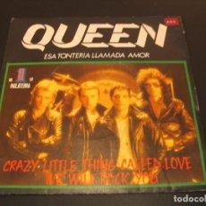 Discos de vinilo: QUEEN SINGLE 45 RPM CRAZY LITTLE THING CALLED LOVE EMI ESPAÑA 1979. Lote 211395700