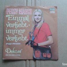 Discos de vinilo: PEGGY MARCH - EINMAL VERLIEBT IMMER VERLIEBT SINGLE 1971 EDICION ALEMANA. Lote 211395825
