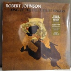 Disques de vinyle: ROBERT JOHNSON ‎– KING OF THE DELTA BLUES SINGERS | DOBLE LP | DELUXE GATEFOLD EDITION | NUEVO. Lote 211396296