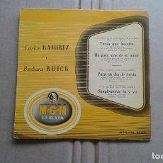 Discos de vinilo: CARLOS RAMIREZ & BARBARA RUICK - BANDAS SONORAS EP 4 TEMAS. Lote 211400185