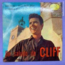 Discos de vinilo: SINGLE UN SALUDO DE CLIFF - BARCELONA - VG+. Lote 211403557